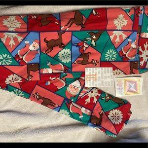 NWT LuLaRoe Christmas leggings - Tall & Curvy